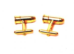 007 Gold Bullet Cuff link  (Novelty)